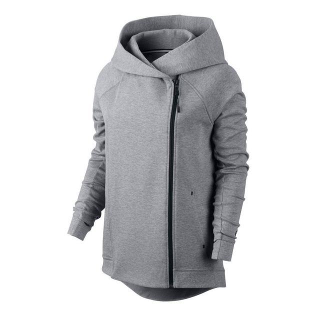 33574105913f Nike - Sweat Tech Fleece Cape - 684928-091 - pas cher Achat   Vente Gilet  femme - RueDuCommerce