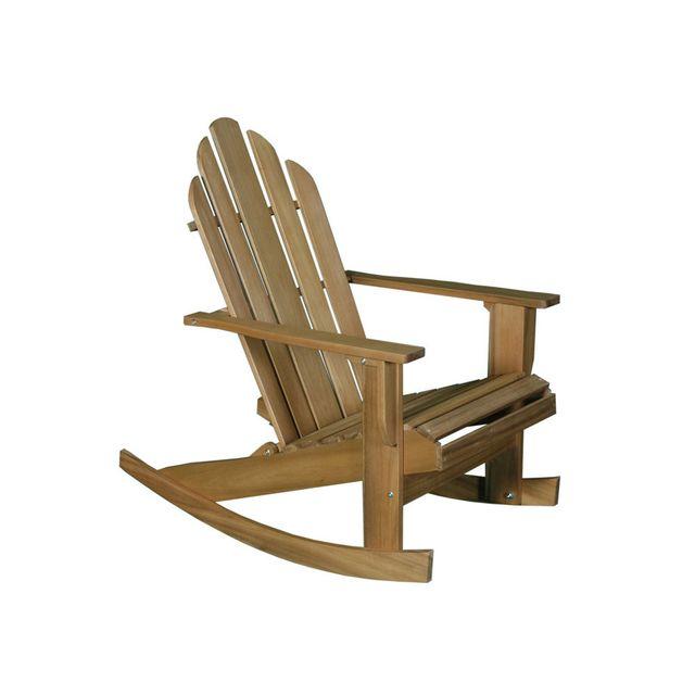 dlm rocking chair de jardin en acacia marron riverhauk pas cher achat vente fauteuil de. Black Bedroom Furniture Sets. Home Design Ideas