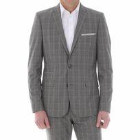 Gianni Ferrucci - Costume cintré gris à carreaux