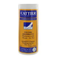 Cattier - Poudre absorbante déodorant pieds