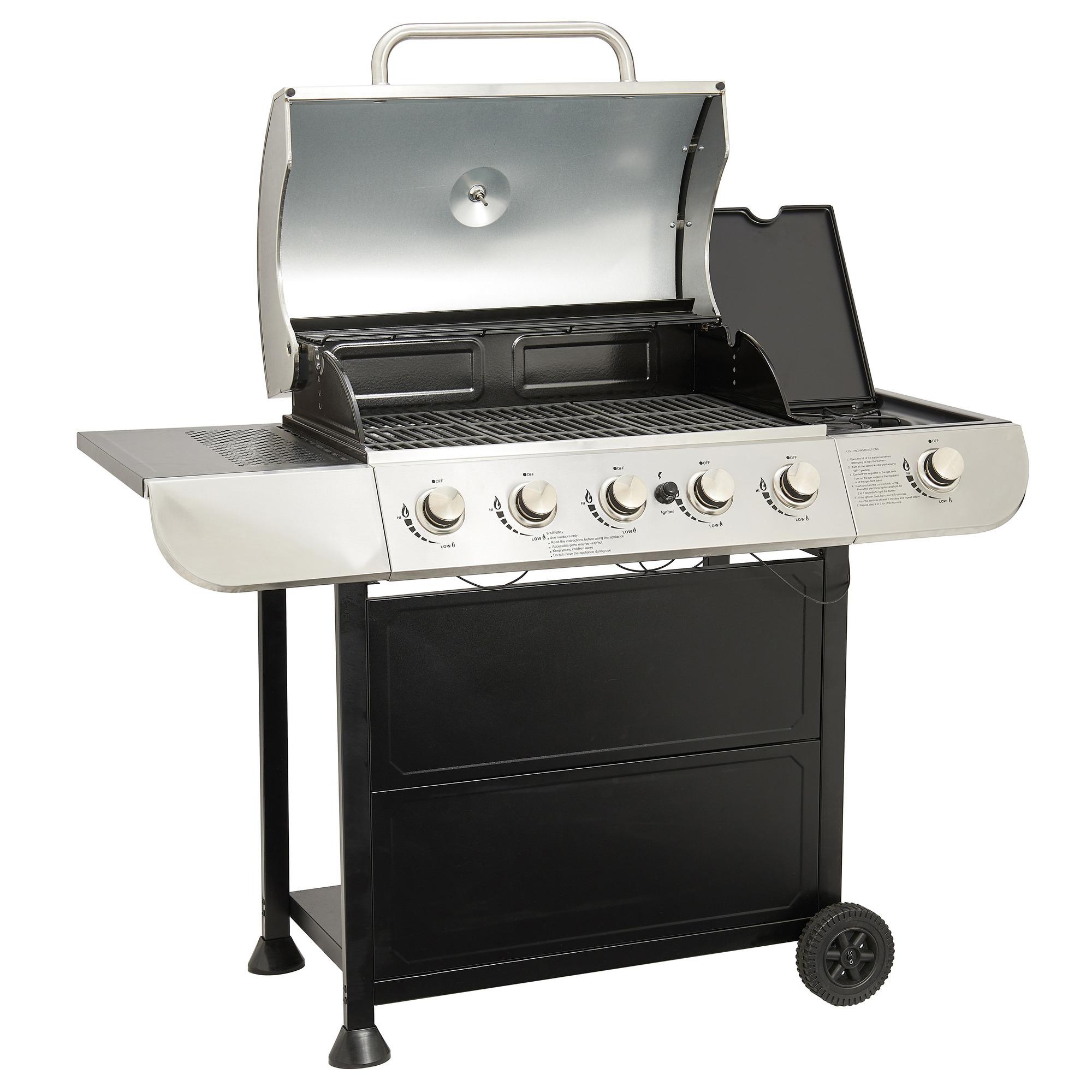 Carrefour Barbecue Gaz 5 1 Feux Kentucky Pas Cher