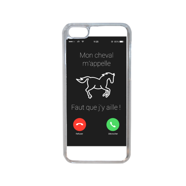 22e8bbb9d6dd4c Apple - Coque telephone cheval compatible iphone 7 transparent - pas ...