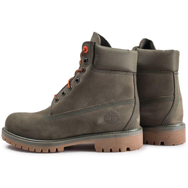 Timberland 6 inch Premium Boots Kaki pas cher Achat