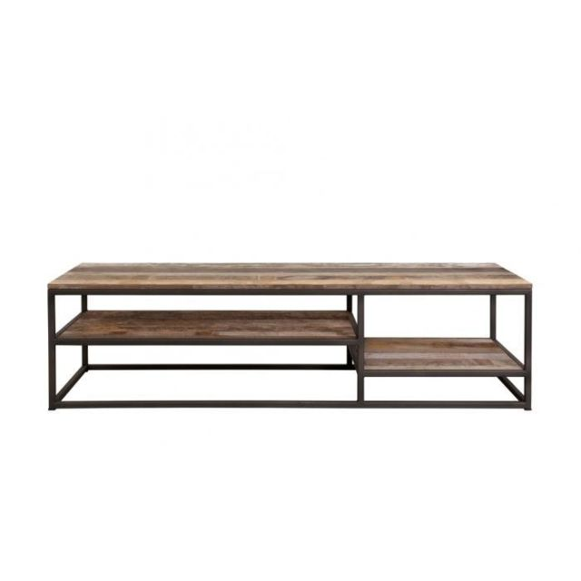 Dbodhi Table basse rectangulaire 125 x 50 cm gamme tuareg