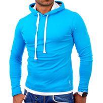 Tazzio - Sweat fashion homme Sweat 1003 bleu à capuche