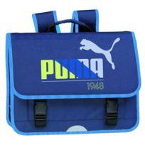 Puma - Cartable Scolaire 1948 - 3 Compartiments - 6 a 11 ans - Classe Elémentaire - 41 cm - Bleu - Enfant Garçon