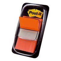 Post-it - Marque-pages orange 25,5 mm - distributeur de 50 feuilles