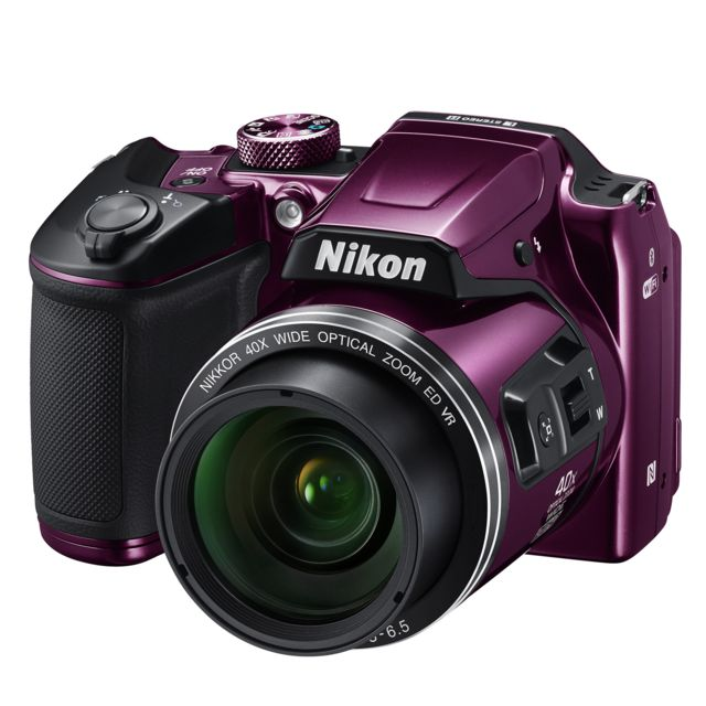 nikon appareil photo bridge violet b500 pas cher achat. Black Bedroom Furniture Sets. Home Design Ideas