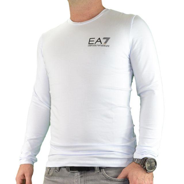 Ea7 Longues Gold Manches Line Shirt Homme Armani Tee Emporio L4q35AjR