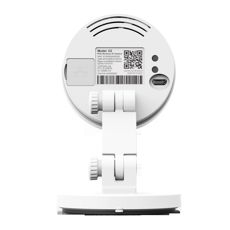 C2 Camera IP 1080P FullHD Zoom8X - Alarm sur Mouvement et Bruit - Vision jour/Nuit - Blanche