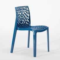 IGAP - GRUVYER - Chaise de jardin - Bleu