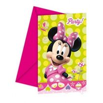 Party Showroom - Invitations anniversaire Minnie x6