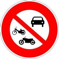 Editions Uttscheid - Accès interdit à tous les véhicules à moteur - Autocollant vinyl waterproof - Diamètre de 200 mm
