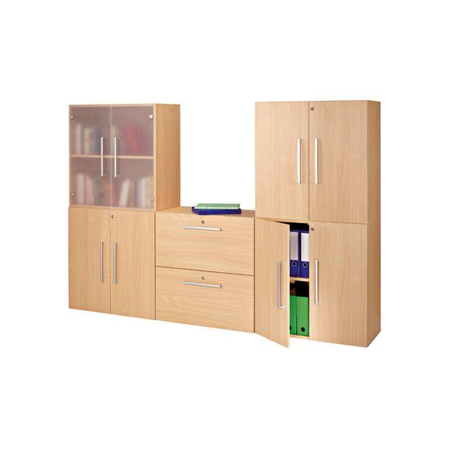 Module de bibliothèque modulaire hêtre