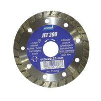 Norton - Disque diamant - Jet 200 - jante contenue crénelée - D: 115 mm