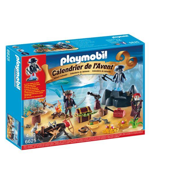 """PLAYMOBIL - Calendrier de l'Avent """"Ile des pirates"""" - 6625"""