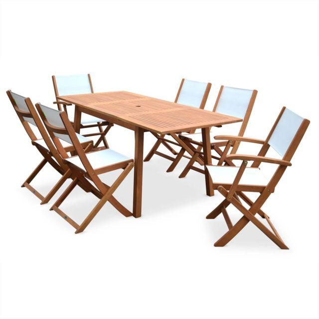ALICE\'S GARDEN - Salon de jardin en bois extensible ...