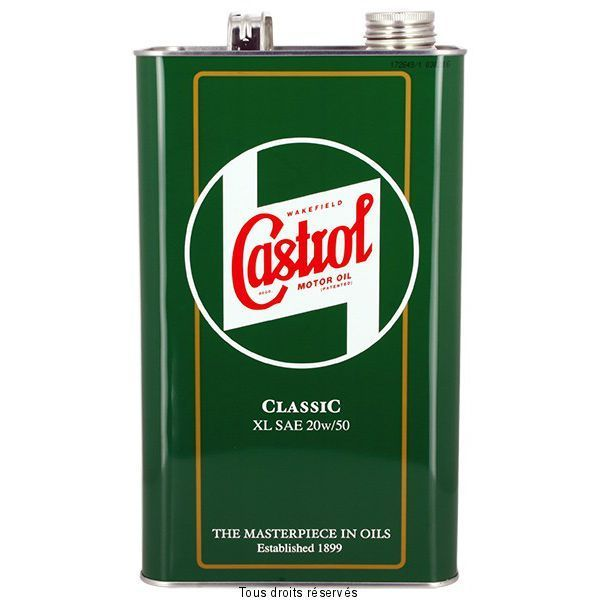 castrol classic xl 20w50 5l huile min rale 4t achat vente huiles moteurs pas cher. Black Bedroom Furniture Sets. Home Design Ideas