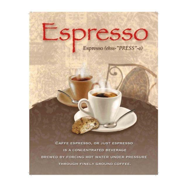 Universel Plaque café espresso deco tole cuisine bar restaurant loft