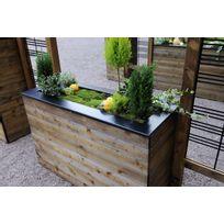 JARDIPOLYS - Jardinière en bois rectangulaire Collectors 120