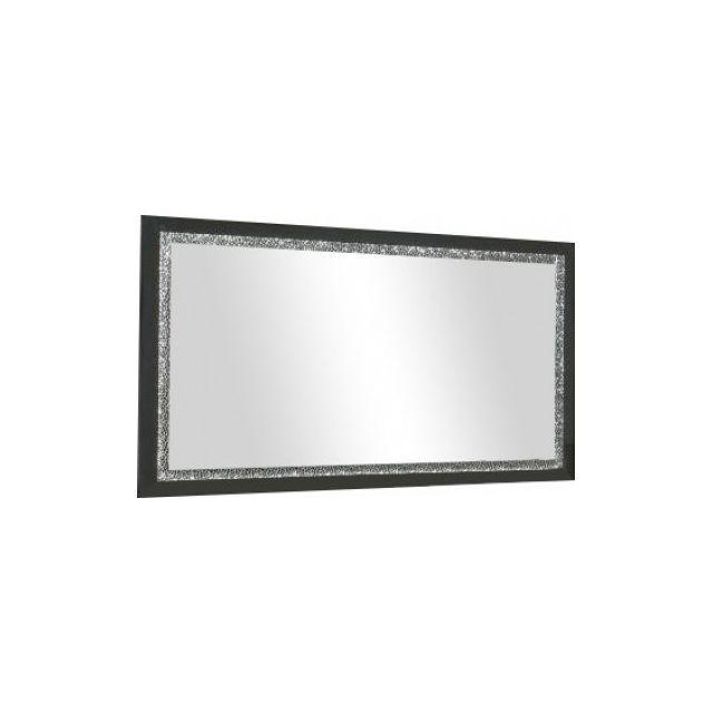 Decodesign Miroir Cromo Laque Noir 140 cm