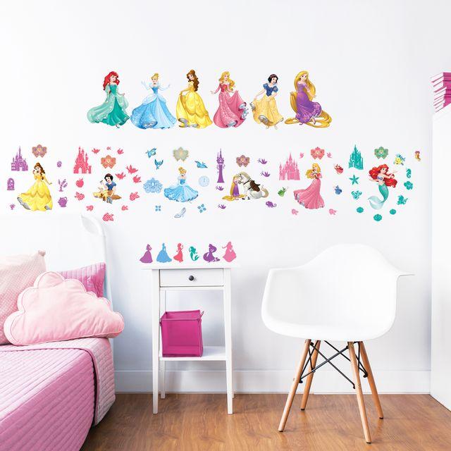 Walltastic - 77 Stickers Princesse Disney Multicolore - pas cher ...