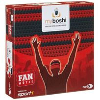 Noris Spiele - My Boshi 606311349-BONNET De Supporter Aux Couleurs Du Club Rouge/NOIR