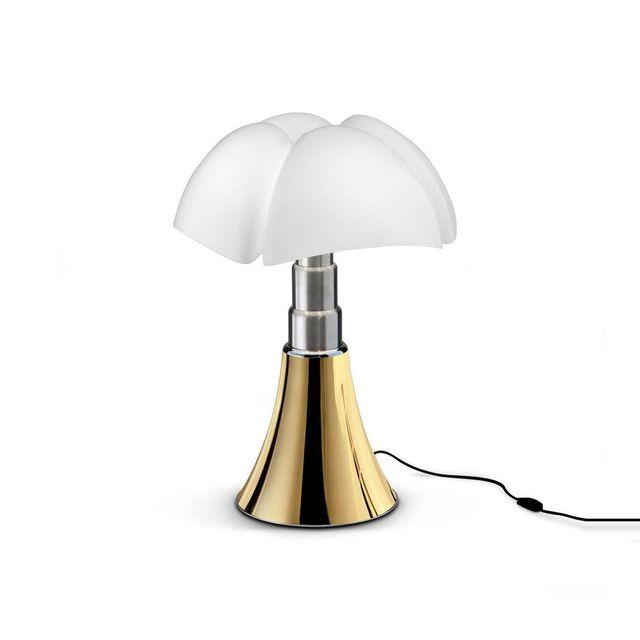 Martinelli Luce Mini Pipistrello - Lampe Doré Led Edition limitée H35cm - Lampe à poser designé par Gae Aulenti