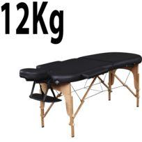 Massage Imperial - Orvis Table de Massage Reiki Léger De Luxe- Noir