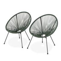de fauteuils ACAPULCO GARDEN ALICE'S Lot 2 d'oeuf forme PX0wnk8O
