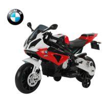 BMW MOTOR SPORT - Moto électrique bmw pour enfant double moteur jeu éducatif en pp rouge blanc noir 07rd