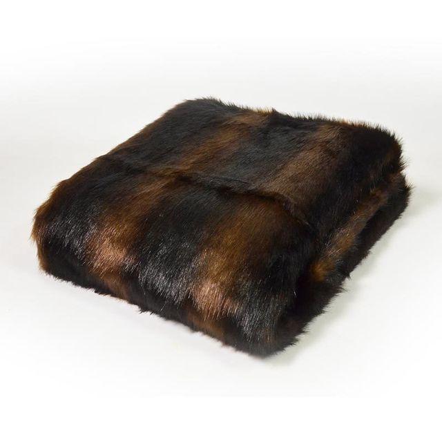coussineo plaid fourrure confort hiver camel 130x170 cm marron pas cher achat vente. Black Bedroom Furniture Sets. Home Design Ideas