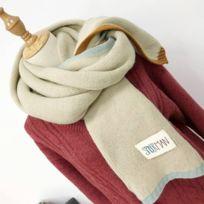 6e764cfc286 Wewoo - Echarpe Beige Écharpe en laine épaisse chaude de couleur unie