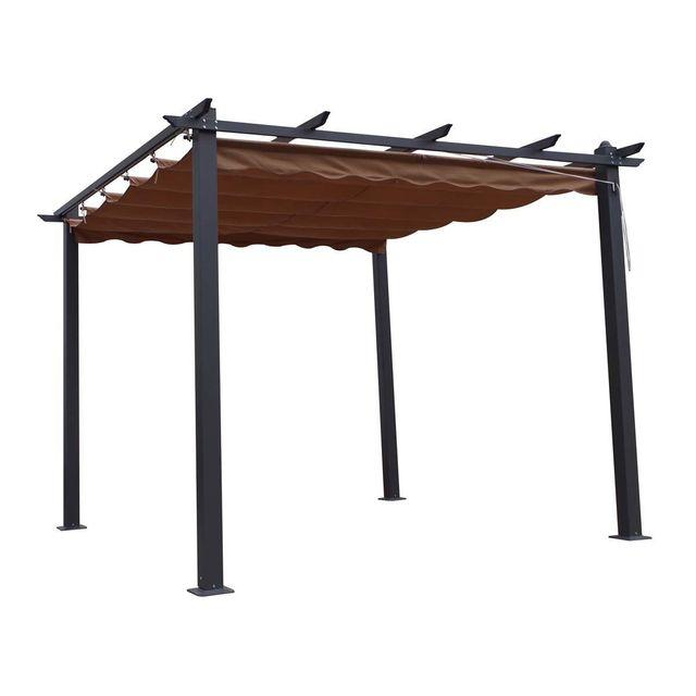 Tonnelle De Jardin Aluminium.Tonnelle En Aluminium Monica 3 X 3 X H 2 2 M Taupe