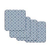 Set De 4 Dessous De Verre Bleu En Liege Casablanca