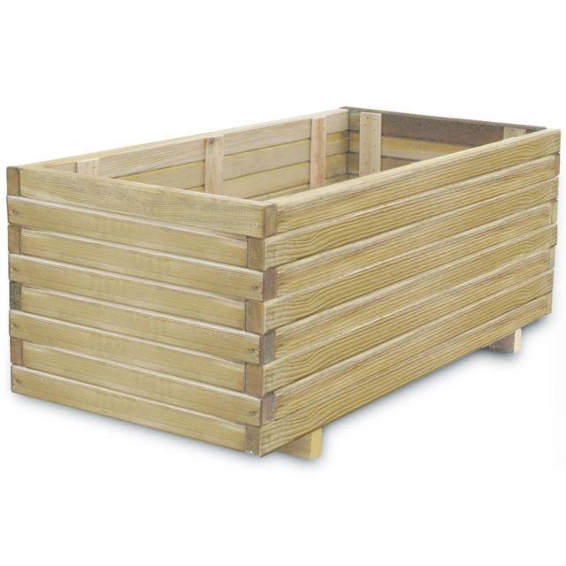 Generic Jardinière rectangulaire 100 x 50 x 40 cm Bois