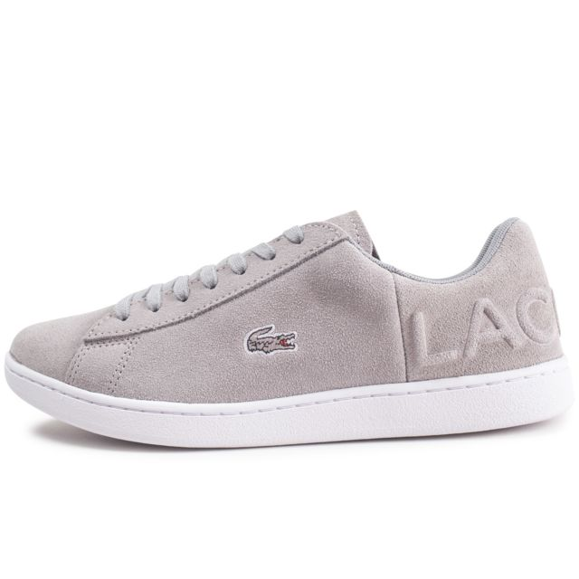 b163efed5eee Lacoste - Carnaby Evo Grise Femme - pas cher Achat / Vente Baskets femme -  RueDuCommerce