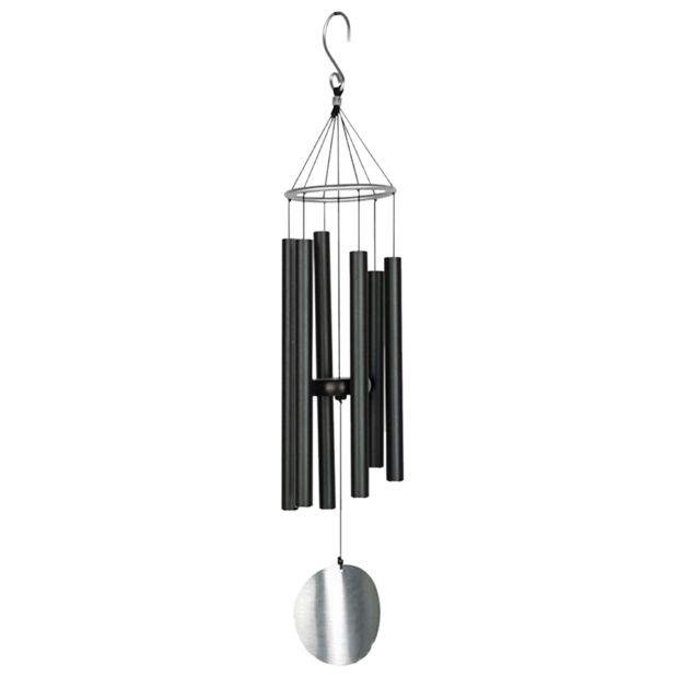 6 tubes cloches fenêtre jardin yard vent carillon décoration de chambre à coucher cadeaux noir