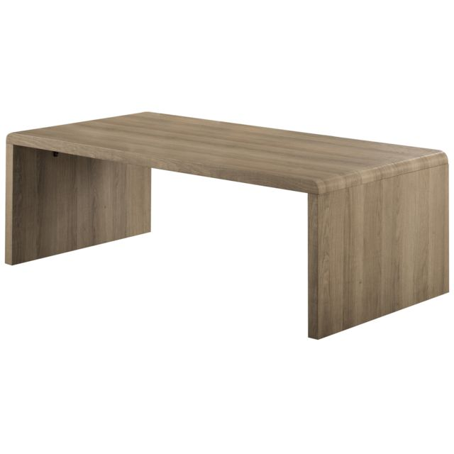 comforium table basse design en bois mdf d cor feuille 3d bois ch ne en lavage naturel 120x69cm. Black Bedroom Furniture Sets. Home Design Ideas