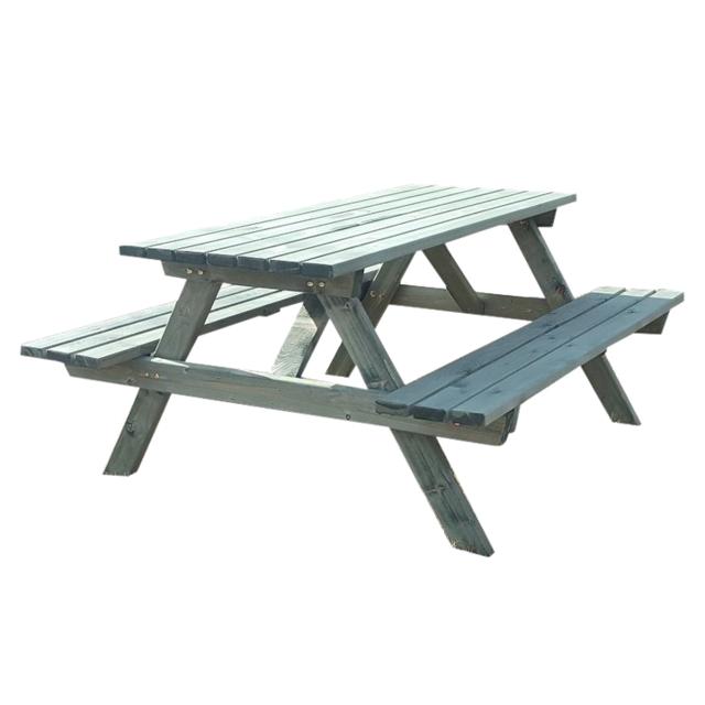 Homense - Table De Jardin En Bois Rectangulaire Avec Bancs Integres ...