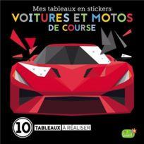 1 2 3 Soleil - mes tableaux en stickers ; voitures et motos de course