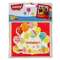 Yoopy - Cartons d'invitation Ballons x6