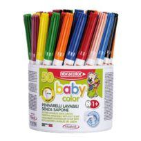 Fibracolor - feutres baby color pointe moyenne - pot de 50