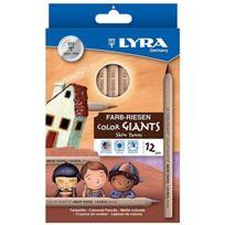 Lyra - Skin Tones L3931124 Etui De 12 Crayons GÉANT Couleurs De Peaux