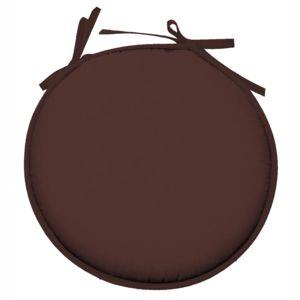 Lovely casa galette de chaise ronde 100 polyester nelson chocolat cacao 30cm x 40cm pas - Galette de chaise casa ...