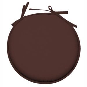 lovely casa galette de chaise ronde 100 polyester nelson chocolat cacao 30cm x 40cm pas. Black Bedroom Furniture Sets. Home Design Ideas
