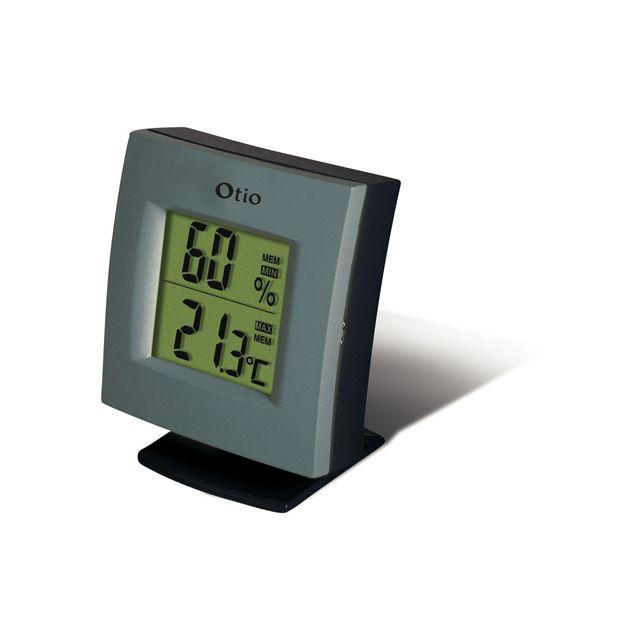 Thermom tre int rieur et ext rieur filaire otio vendu par for Thermometre interieur exterieur leroy merlin
