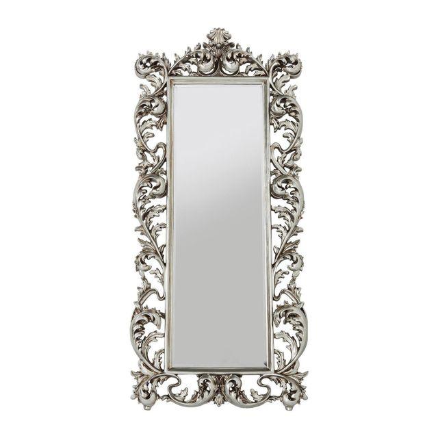 Karedesign Miroir Sun King rectangulaire argenté 190x90cm Kare Design