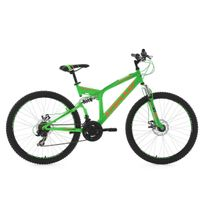 Ks Cycling - Vtt tout suspendu 26'' Xtraxx vert-orange Tc 46 cm