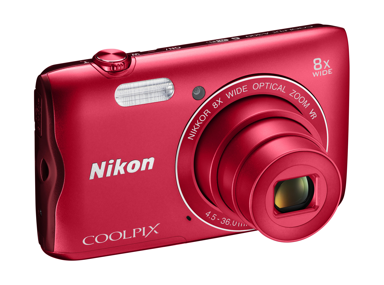 appareil photo compact - coolpix a300 rouge